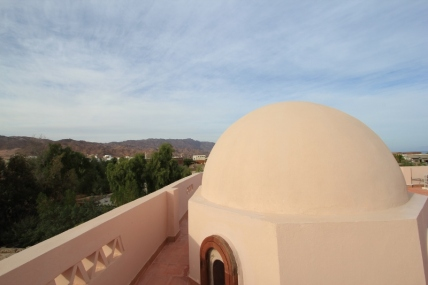 Panoramic mountain and sea views on the roof terrace