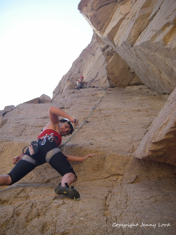 image of rock climbing in Dahab