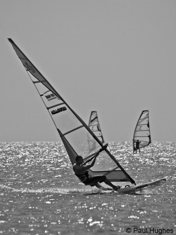 image of a windsurfer