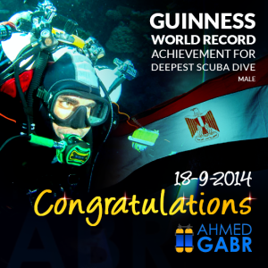ahmed gabr completed dive